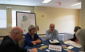 Gwen Cook and Kevin Brickman discuss future plans by the Mecklenburg County Parks and Recreation department.