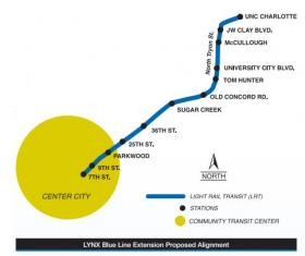 The proposed Blue Line Extension