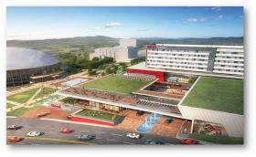 """Concept art for the """"GoodSports Village"""" that city staff presented to the Council."""