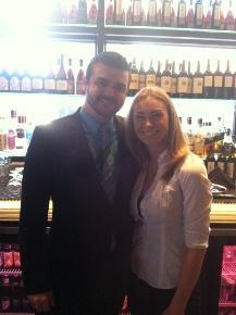 Assistant GM Mark Childers and Head Bartender Jennifer Barnette of 5Church.
