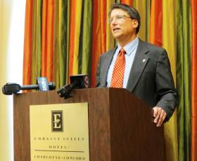 Governor Pat McCrory was a keynote speaker at that opening session for the Highway Safety Symposium in Concord. He says the Concord Mills Mall exit on I-85 is an example of a poorly designed exit.