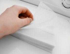 Dryer sheets have many unexpected uses! And they are just as effective if you cut them in half.