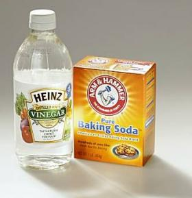 Vinegar and baking soda are cheap and effective household cleaning products that don't contain artificial fragrances.