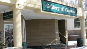 Gallery of Flowers was one of only a handful of businesses open on Friday morning at the Boardwalk in University City.