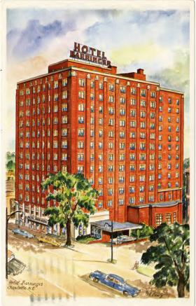 "The twelve-story William R. Barringer Hotel opened in 1940 and had a ""Bamboo Room Bar"" that hosted gay men one night of the week. In 1975, it was converted into senior housing."