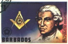 Prince Hall pictured on Barbados stamp