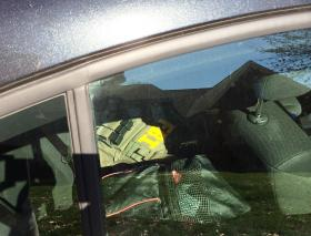 An FBI jacket inside one of the cars parked outside of Mayor Patrick Cannon's home in Ballantyne.