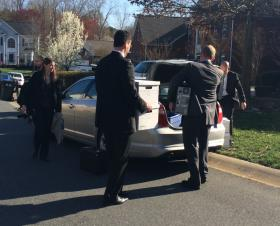 FBI agents loaded a CPU and boxes from Patrick Cannon's home in Ballantyne before driving off.