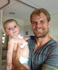 Greg Olsen's son, T.J., has gone through two open-heart surgeries.