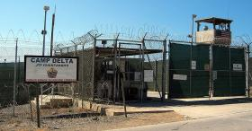 The entrance to Camp 1 in Guantanamo Bay's Camp Delta.