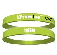 "Pam Thompson's iProm!se bracelet stretches to reveal a message like ""Never Give Up."""