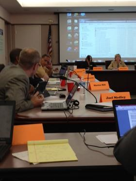 At this charter advisory board's first meeting last year, they discuss criteria to use to review charter applications.