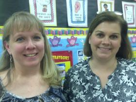 Third-grade teachers Andrea White (left) and Michelle Robbins (right) worry the new law involves too much testing.