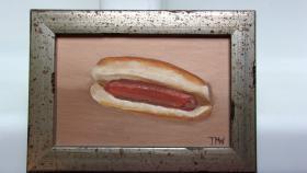Portrait of a hot dog
