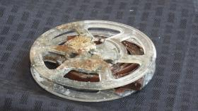 A three-inch reel-to-reel audio tape was buried in the time capsule from 1964.