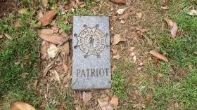 A special grave marker by Colonel Thomas Polk distinguishes him as a Revolutionary War Patriot by the Sons of the American Revolution. Another marker shows that he was a signer of the Meck Dec.