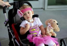 A photo of Kilah Davenport after she was discharged from the hospital on July 19, 2012.