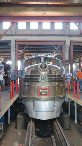 The Silver Pilot (Burlington Route No. 9911-A) is owned by the Illinois Railway Museum. It's a passenger car built in 1940 for the Chicago, Burlington and Quincy route.