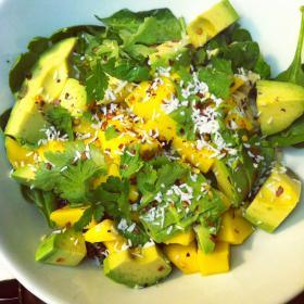 Coconut mango salad