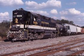 Norfolk Southern freight train locomotive.