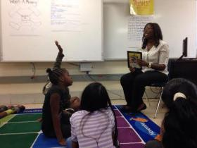 """Ms. Tyler's summer reading camp at Hidden Valley Elementary School analyzes the book """"Miss Nelson is Missing."""" The class meets six hours a day, four days a week."""