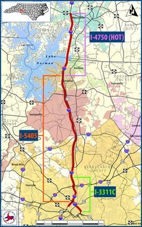 The project would widen I-77 between Mooresville and uptown Charlotte.