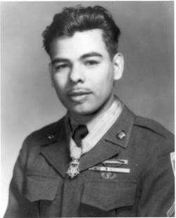 Undated photo of Rudy Hernandez in uniform, wearing his Medal of Honor