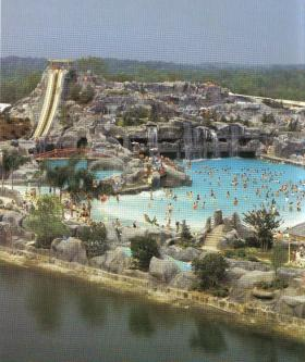 The water park at Heritage USA in the 1980s.