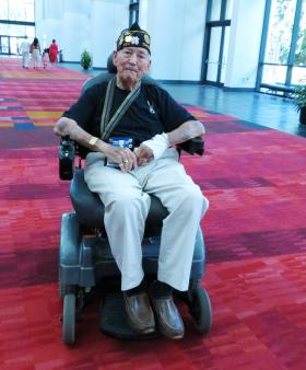 Clinton Thompson served in the Korean War in the 1950s. He is also a former department national vice commander with the American Legion.