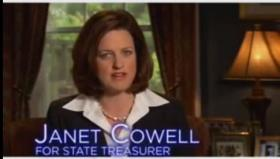 Janet Cowell appearing in a 2008 campaign ad.