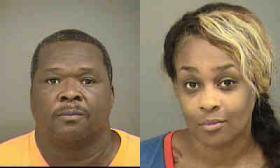 Reginald K. Harris, 52, and Dia D. Harris, 40, were arrested August 6, 2014.