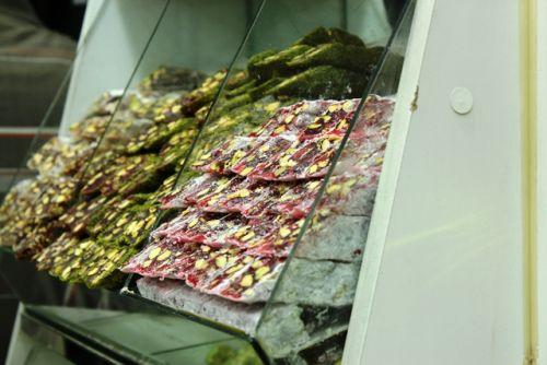 Turkish Delight rows piled neatly