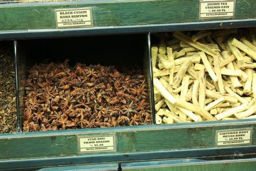 Star Anise and Liquorice Root waiting for their turn