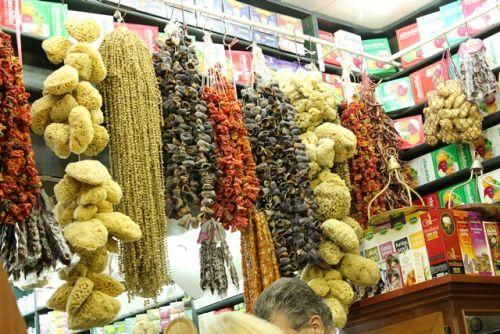 Inside a spice store