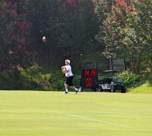 Bersin has been working out with the special teams as a kickoff and punt returner. Photo: Tanner Latham