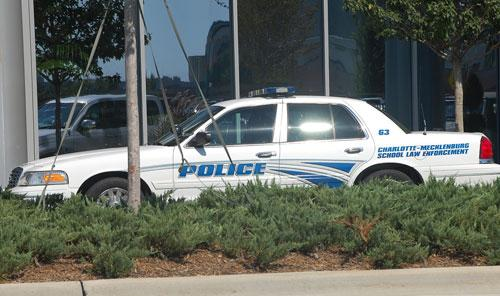 Charlotte-Mecklenburg Schools Law Enforcement vehicle.