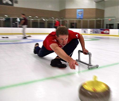 The sport of curling traces its roots to 16th century Scotland. Photo: Tanner Latham