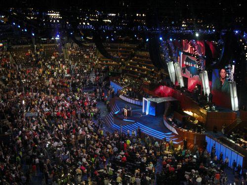 A shot from the 2008 Democratic National Convention