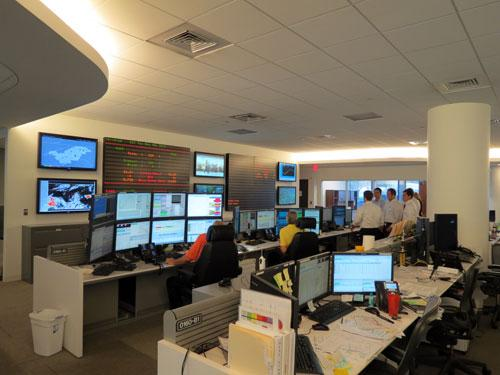 "The"" trading floor"" at Duke Energy's Uptown headquarters. Photo: Julie Rose"