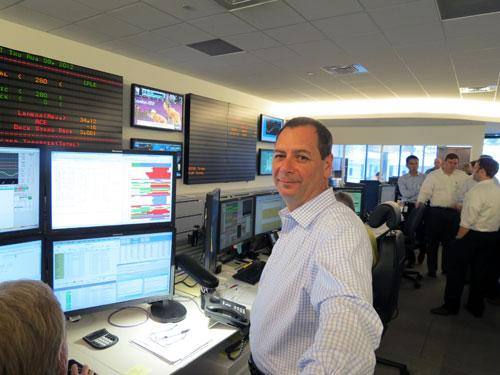 John Verderame on the trading floor.