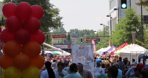 This year's pride festival was the biggest ever in Charlotte with about 45,000 people