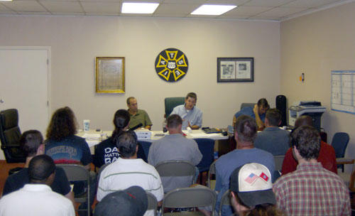 New hire orientation at the Local 322 Union Hall. Photo: Julie Rose