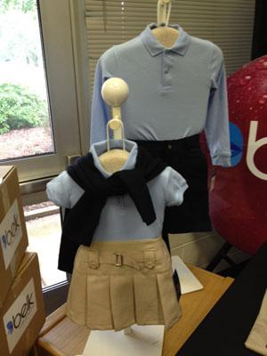School uniforms donated by Belk. Photo: Lisa Miller