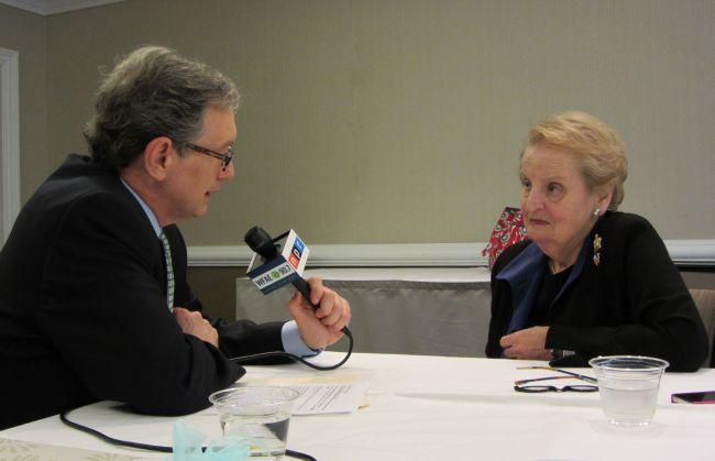 Mike Collins interviews Secretary of State Madeleine Albright.