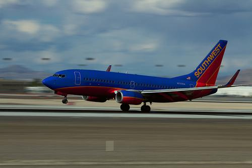 Southwest 737 in Las Vegas
