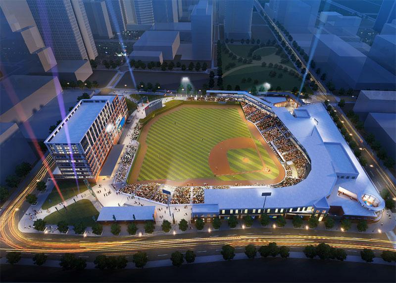 Architect rendering of the future stadium.