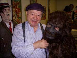 Philip Morris with a replica of the Bigfoot costume. hspace=2