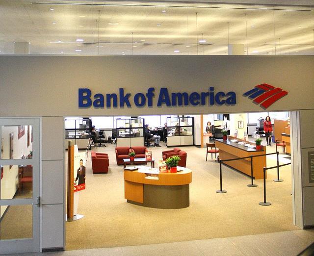 Bank of America branch.