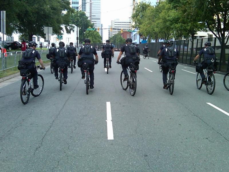 Some of the new bikes CMPD purchased for the DNC.