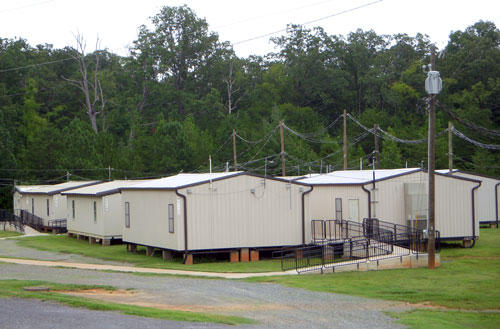 CMS plans to add video surveillance focused on mobile classrooms like these.